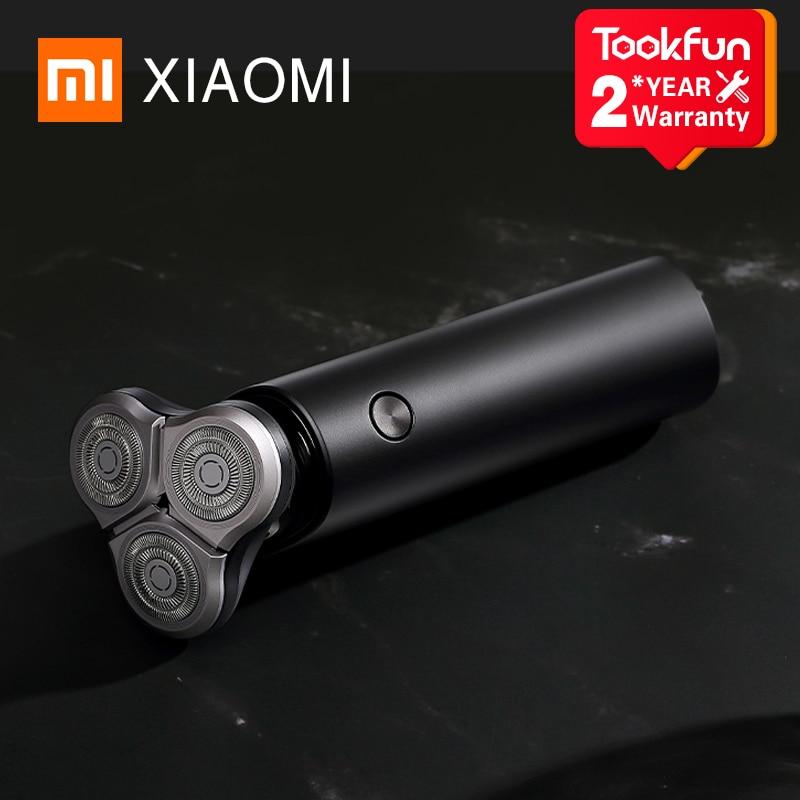 novo xiaomi mijia s500 men inteligente portatil navalha 3 cabeca de barbear lavavel