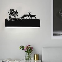 black modern wall lamp for home sconces romantic wall light decoration wall bedside light living room bedroom dining room