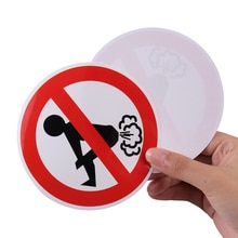 2PCS Interesting No Farting Car Sticker Funny Ass PVC Decal Car Styling Auto Decoration Accessories