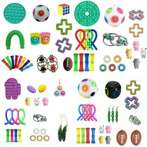 Fidget Toys Anti Stress Set Stretchy Strings Push Gift Pack Adults Children Squishy Sensory Antistress Relief Fidget Toys