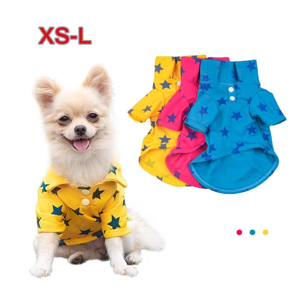 Ropa para mascotas Yorkshire Terrier, camisa con solapa para mascotas, camisa para perro estrella, camiseta para cachorro, ropa transpirable para mascotas, disfraz para cachorros