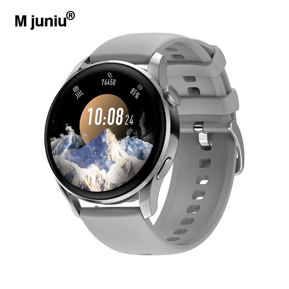 م جونيو DT3 ساعة ذكية 1.36 بوصة IP68 مقاوم للماء ECG PPG معدل ضربات القلب 390*390 HD 100 ساعة يمكنك تصميم واجهتها بنفسك BT دعوة/موسيقى ساعة ذكية