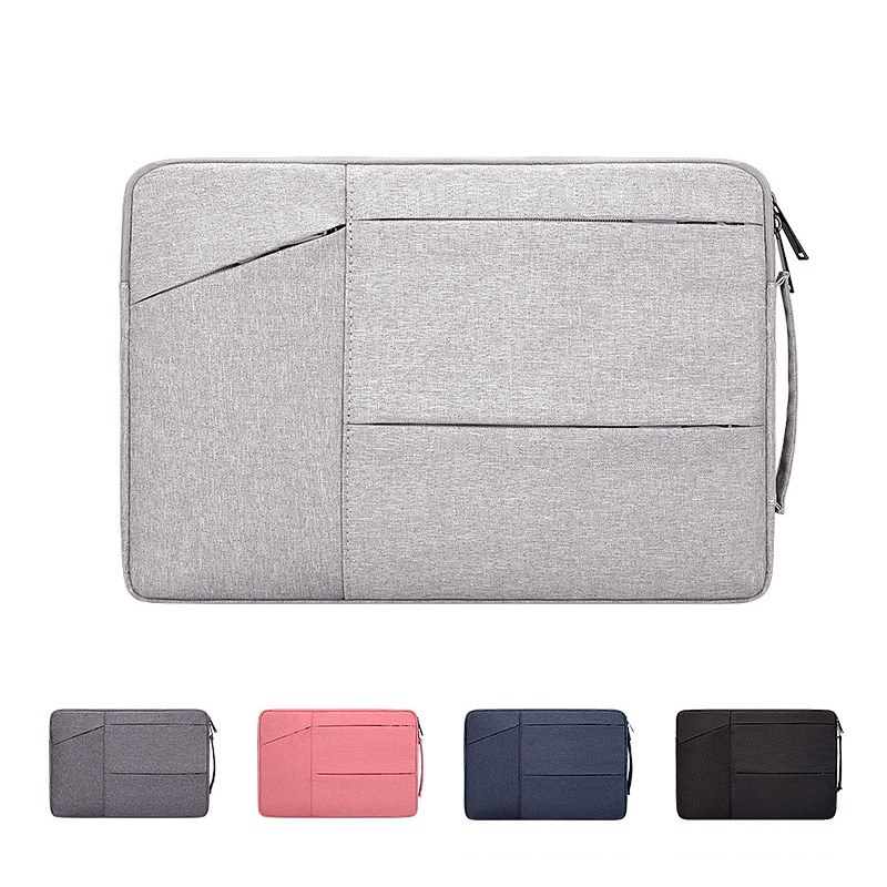 Hand-held Briefcase Bag For Laptop 15 6 13 14 Inch For McBook Pro 13 Huawei Xiaomi Lenovo Dell HP Laptop Multi-pocket Waterproof