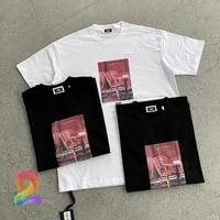 kith t shirts oversize mens womens best quality printed french paris casual t shirt kith high street sports loose tshirts