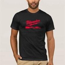 Moda de algodão 2019 tendência t-camisa milwaukee combustível t ferramenta elétrica dos homens cloting personalidade camiseta