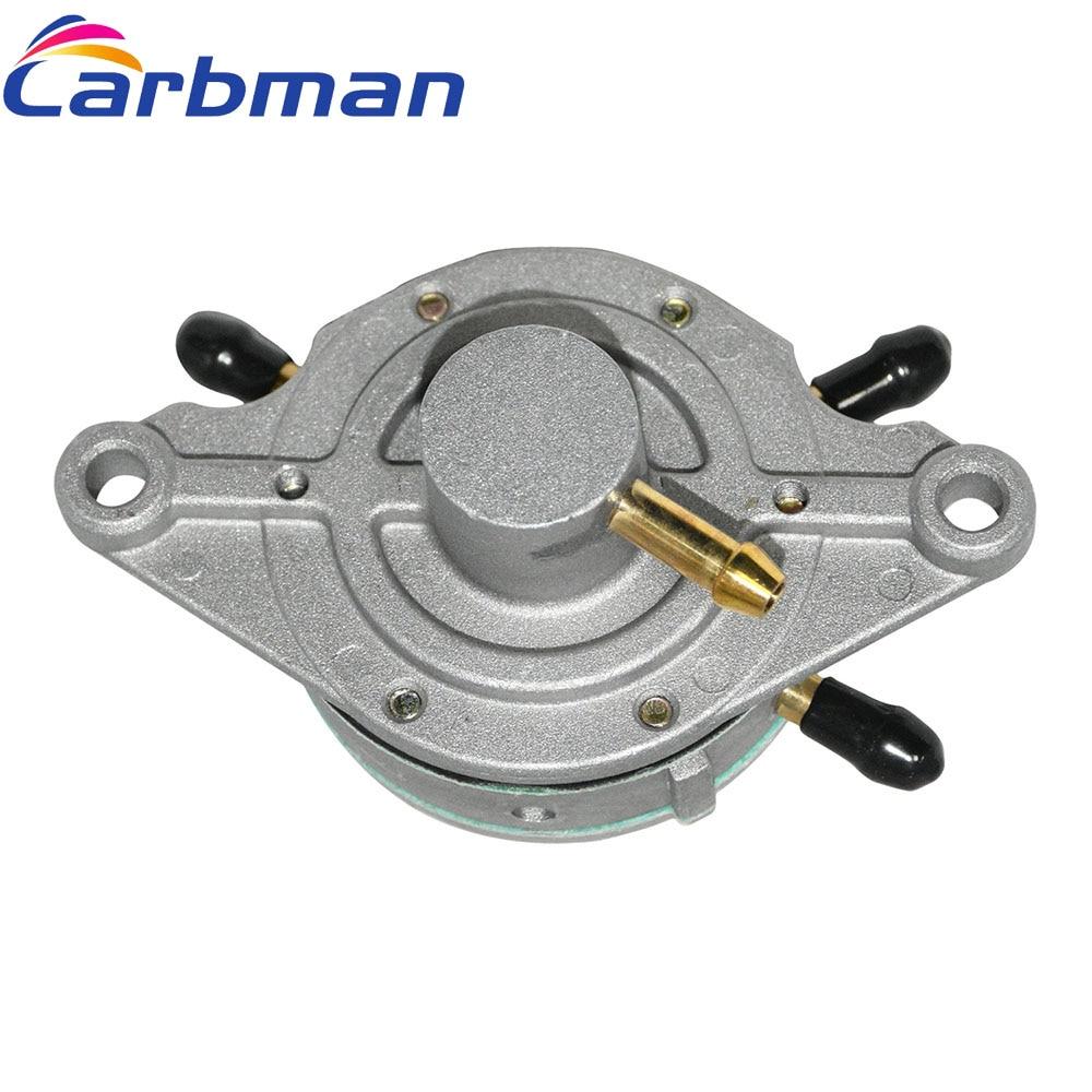 Carbman Fuel Pump For Mikuni DF52-176 Dual Outlet for Snowmobiles Watercraft Garden Machine Auto Parts