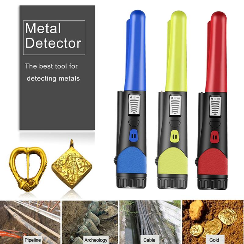 Pointer Metal Detector Waterproof Pro Pinpoint Pinpointing Gold Digger for Garden Detecting 2021 new pointer metal detector pro pinpoint gp pointerii pinpointing gold digger garden detecting waterproof