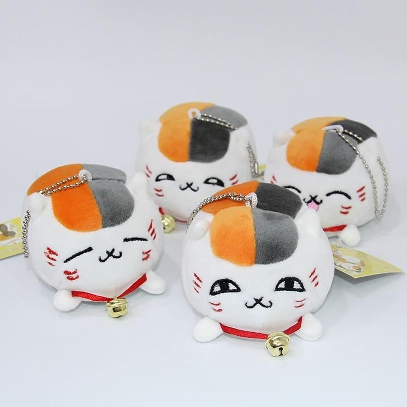 10 Uds. Lote Anime Natsume Yuujinchou Madara juguete llavero de peluche Nyanko Sensei Cat modelo muñeca llavero colgante
