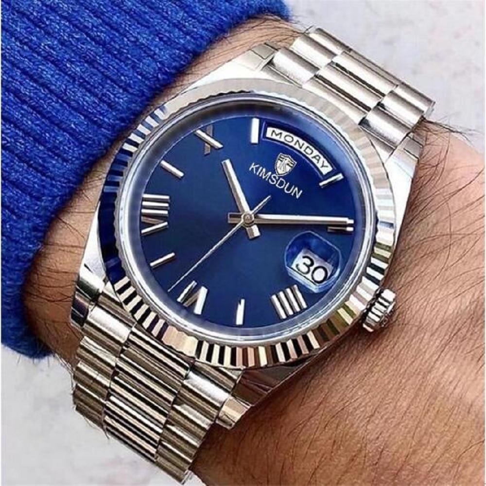 Men Watch DAYDATE Rose Gold Asia 2813 Automatic 41mm President Sapphire glass Mechanical Mens Watches Waterproof 50M