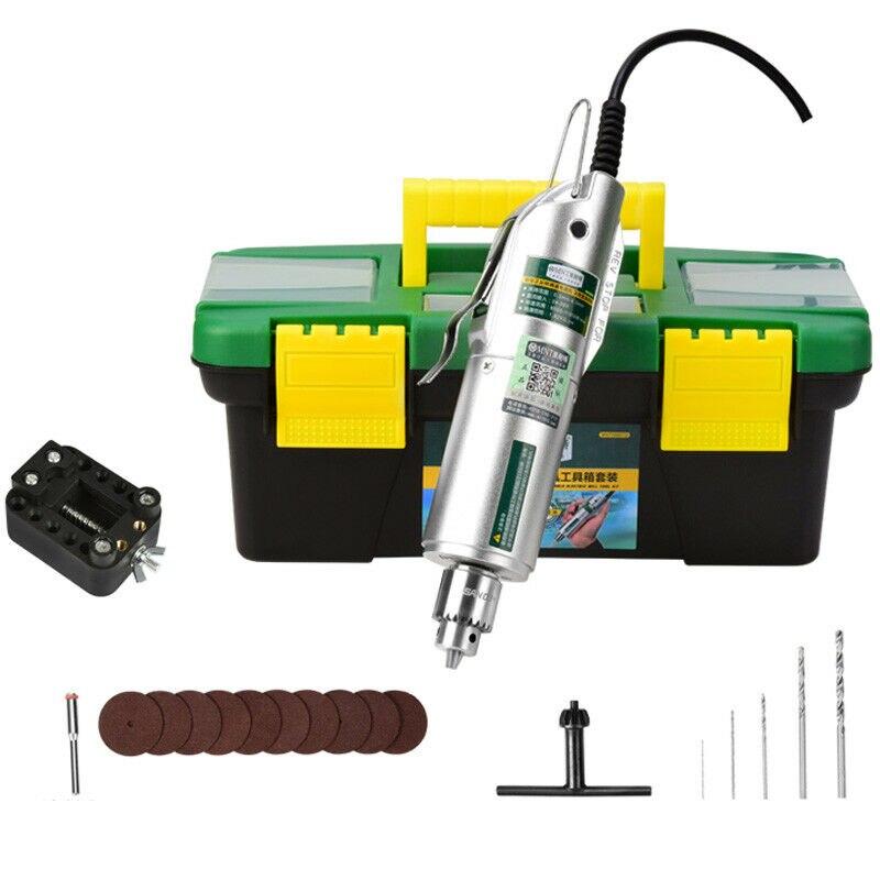 Molinillo Eléctrico Mini juego de herramientas rotativas de taladro eléctrico Mini máquina de grabado de pulido de jade