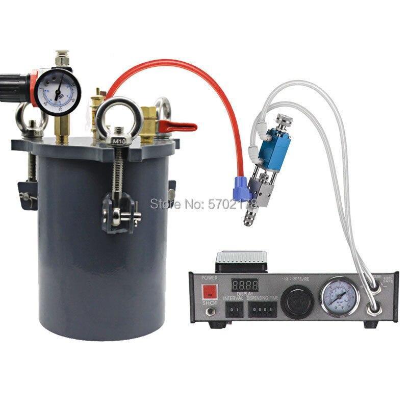 موزع معجون لحام أوتوماتيكي 220 فولت 110 فولت ، دلو غراء ذو سعة كبيرة ، وحدة تحكم في السائل ، قطارة ، موزع السوائل