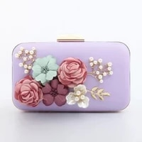2020 newest women pearl flower dinner bag ladies one shoulder messenger chain bags female small square clutch purses for wedding