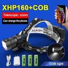 800000LM XHP160 Powerful Led Headlamp Head Flashlight Torch Rechargeable Headlight 18650 Head Lamp Light XHP90.2 Camping Lantern