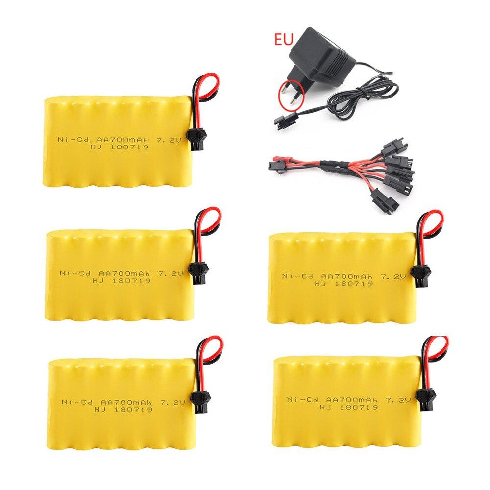 7,2 v 700mAh batería cargador de juegos para Rc coche de juguete tanque tren Robot barco pistola AA NiCD batería 700mah 7,2 v Pack de batería recargable