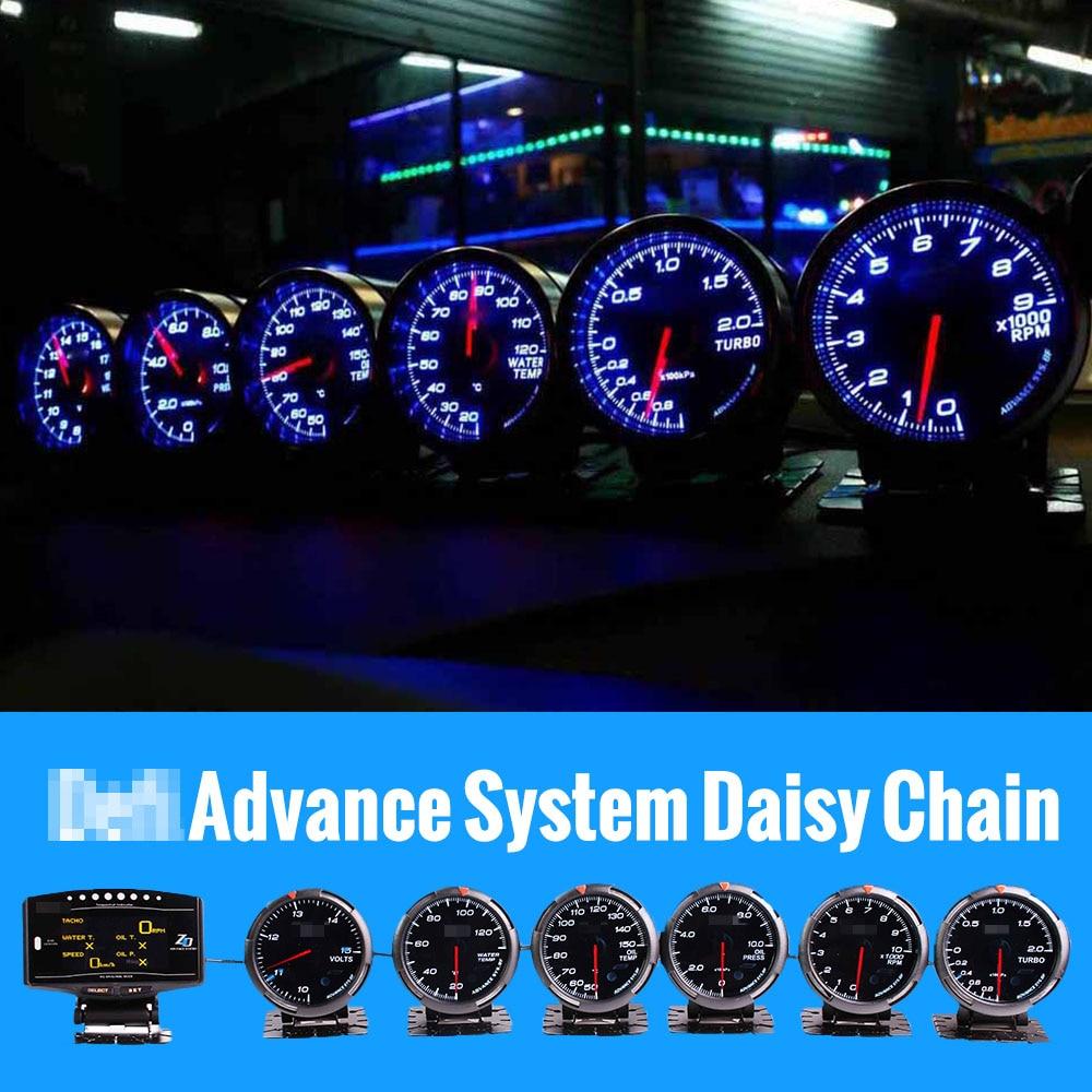 Defi Advance Defi Link نظام zd + 6 مقاييس فولت درجة حرارة الماء النفط درجة الحرارة النفط الصحافة Rpm توربو دفعة مقياس
