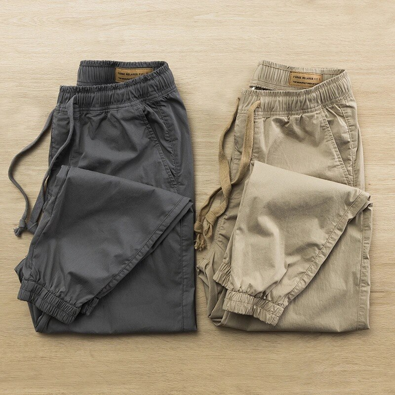 Male Pants Joggers Cotton Cargo Pants Men Harem Pants Slim Man Sweatpants Streetwear Casual Breathable Legged Stretch Trousers