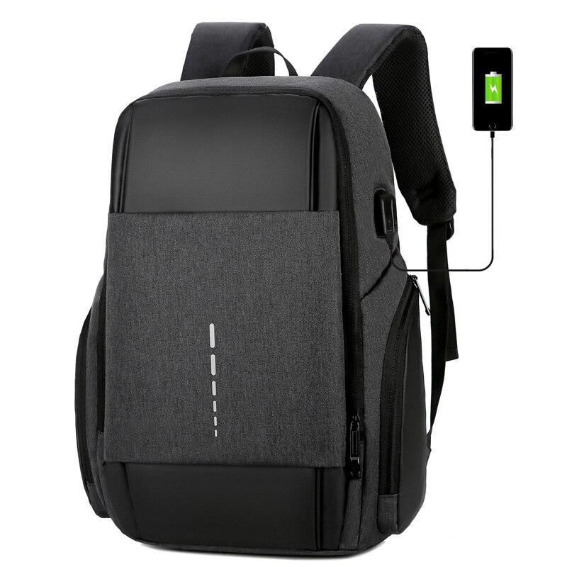 Деловой рюкзак для мужчин, нейлоновый водонепроницаемый ранец для старших классов