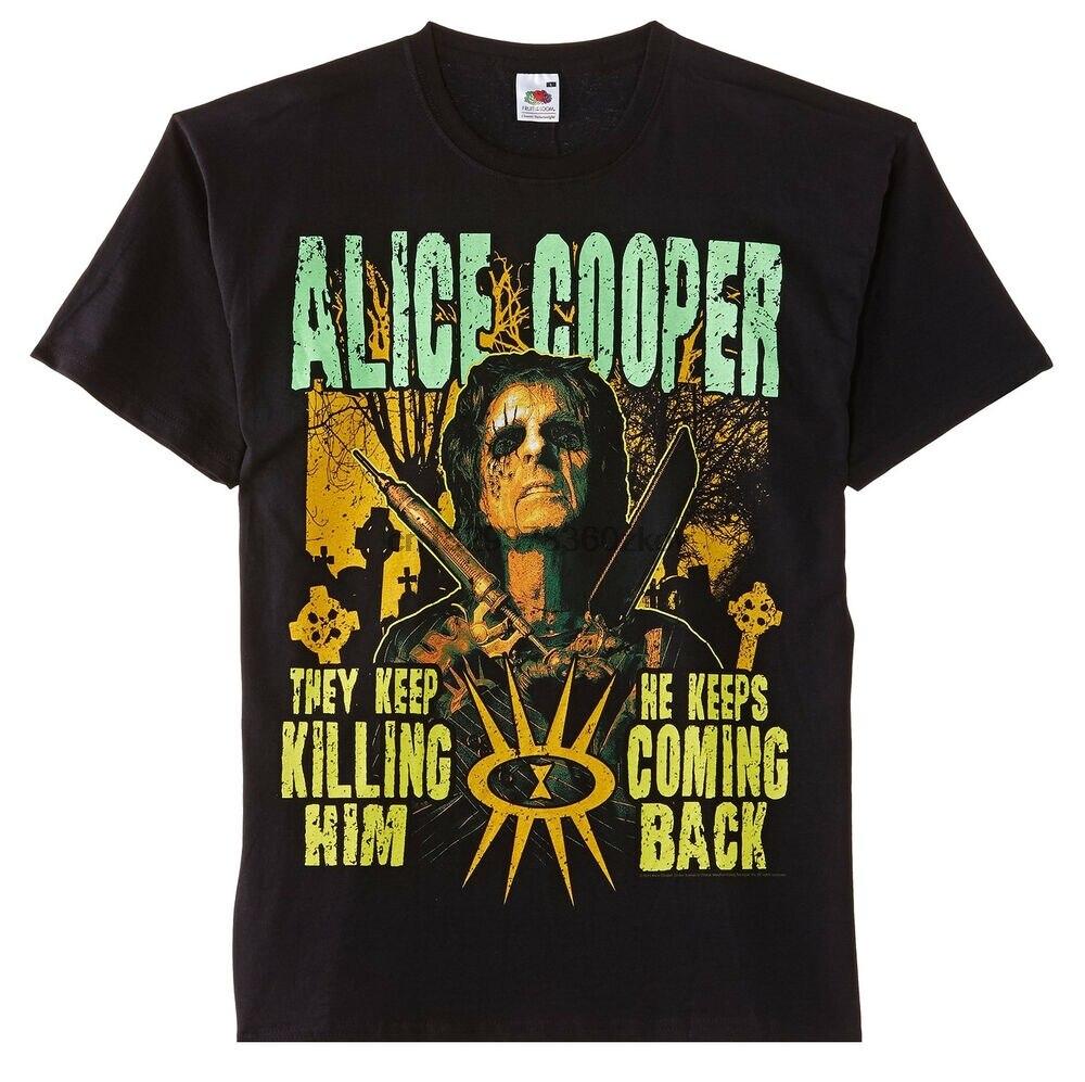 Alice Cooper cementerio Rock Heavy Metal oficial Tee camiseta para hombre Unisex(1)