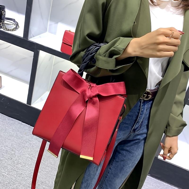 Vino rojo bolso boda Borgoña Bowknot novia bolso superior trenzado de señora bolsos de lujo del bolso de las mujeres diseñador bolsas