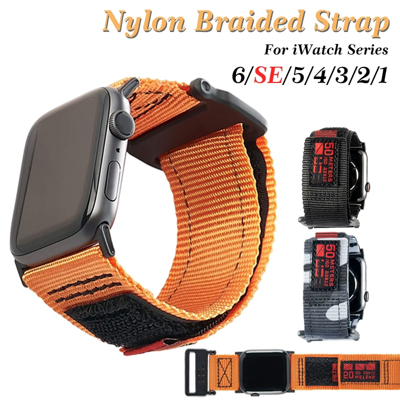 soft silicone loop strap for apple watch band 5 4 44mm 40mm bracelet wristband for iwatch series 5 4 3 2 1 42mm 38mm accessories Nylon Sport Watch Band for Apple watch 6 SE 5 4 40mm 44mm Loop Strap for iwatch Series 5 6 2 3 1 38mm 42mm Bracelet Wristband