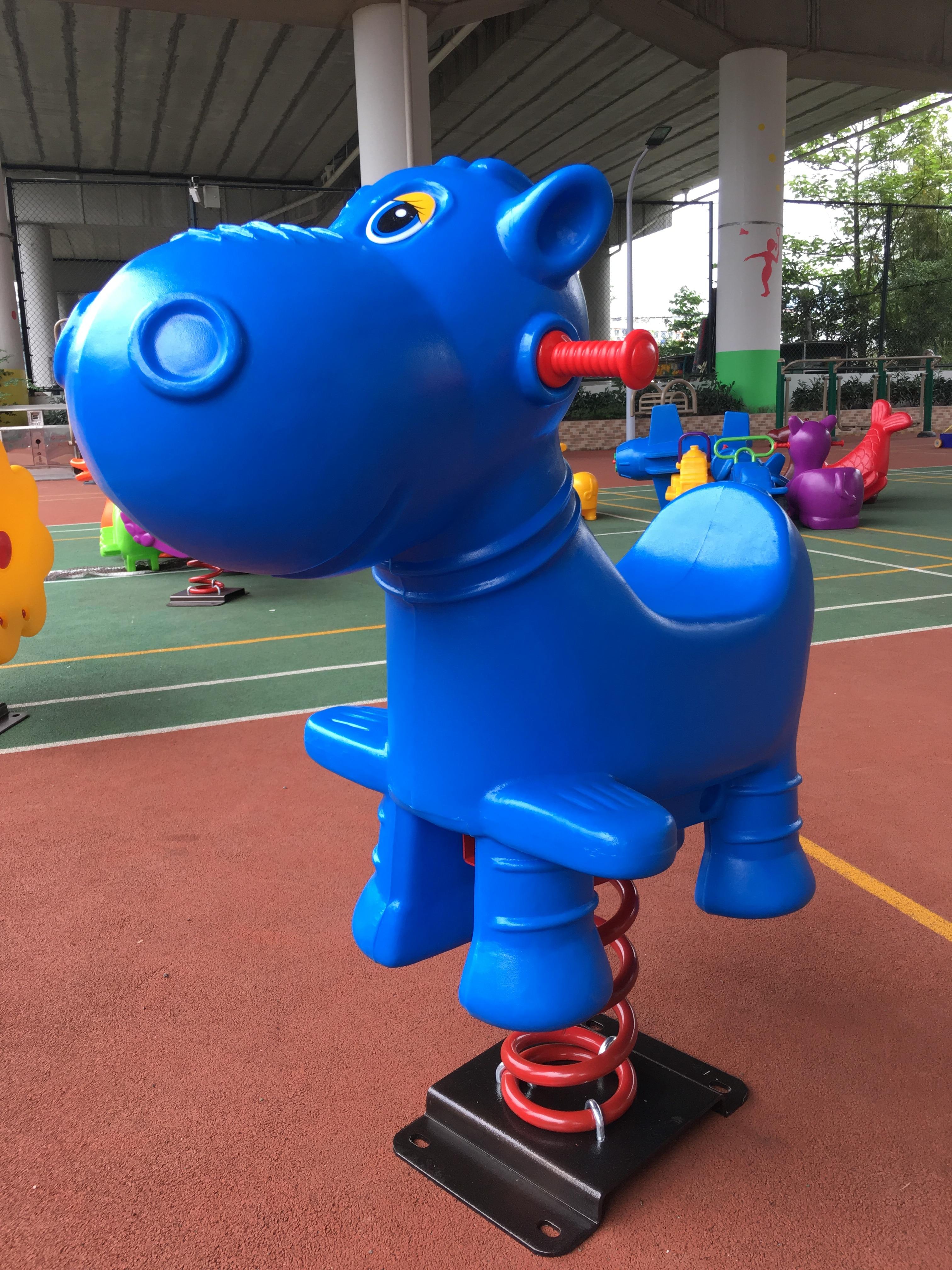 Passeio em brinquedos cavalo crianças cavalo brinquedos para crianças de balanço cavalo equitação brinquedos saltando brinquedo animal hobby ao ar livre playground funil y25