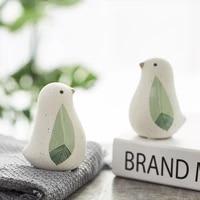 lovely modern small fresh ceramic animal bird childrens room computer desktop decorations in the bedroom