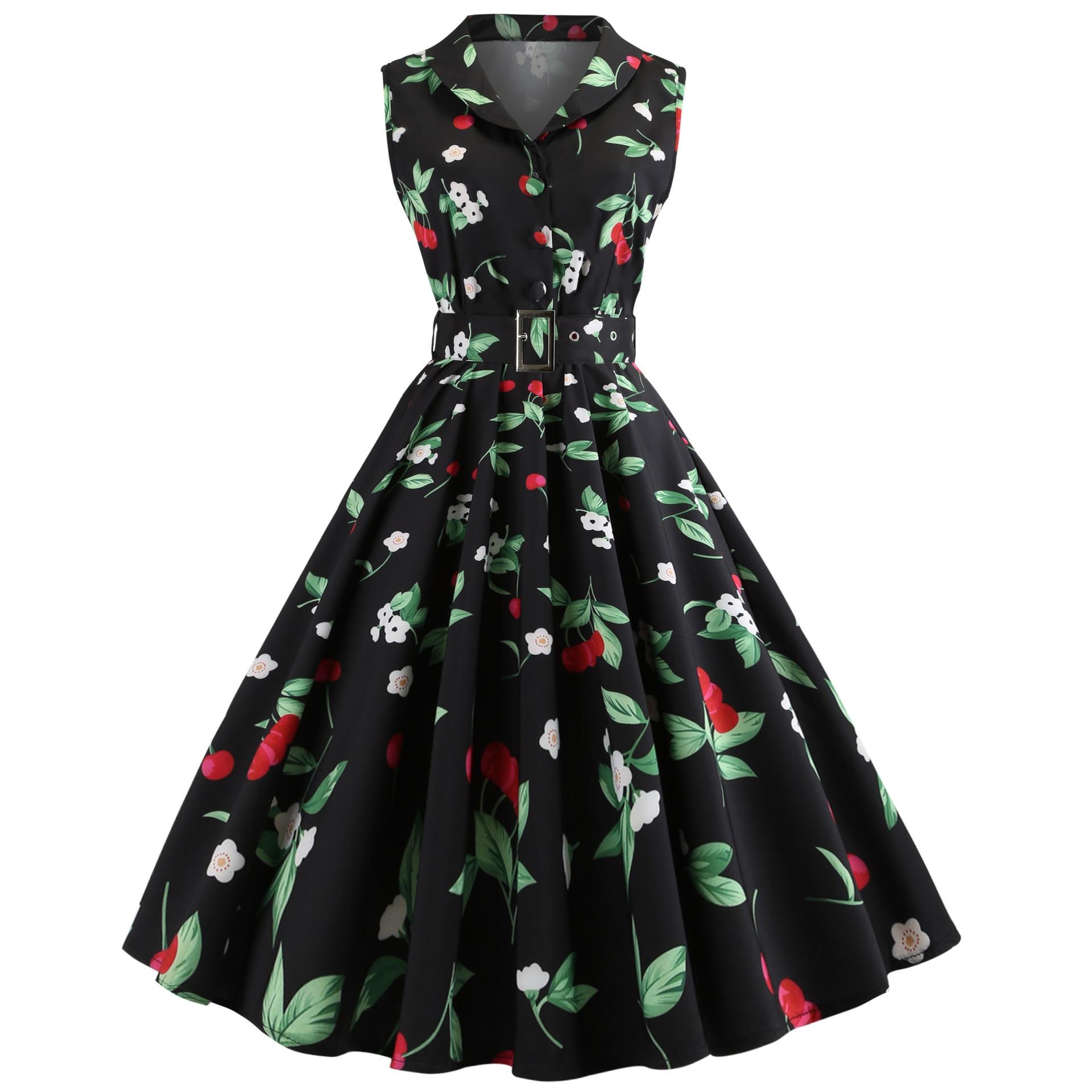 Vestido de mujer moda Otoño clásico 2020 de talla grande retro otoño flor vestidos de mujer vestido sexy ropa de mujer 2020