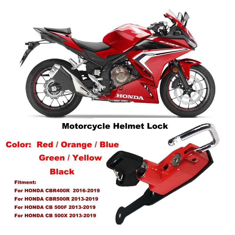 2013-2019 CB500X Helmet Lock Mount Hook 6 color Side Anti-theft Security For HONDA CB 500X CB 500F CBR500 R 13-19 CBR400R 16-19
