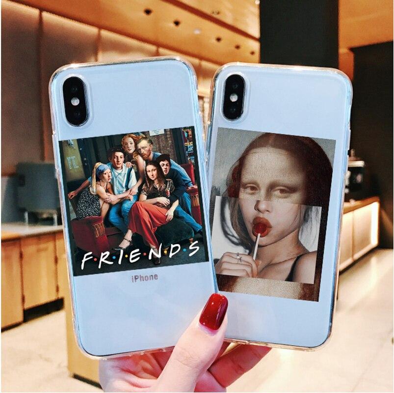 Pinturas de arte o nascimento de vênus caixa do telefone para o iphone 11 pro max 2019 5S 6s 7 8 plus xs max mona lisa van gogh capa engraçada