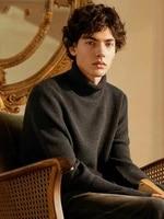 black turtleneck sweater men lazy wind 2019 new winter warm sweater men line clothing tide bottoming