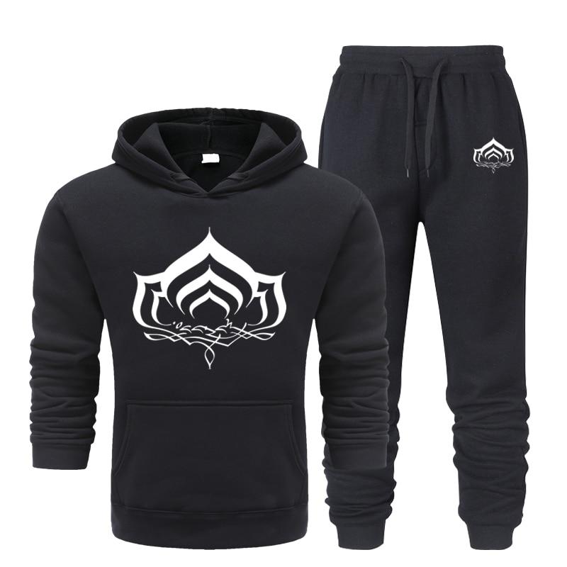 Мужская толстовка с принтом лотоса, спортивная одежда, осенне-зимняя куртка + брюки, Повседневная модная мужская спортивная куртка