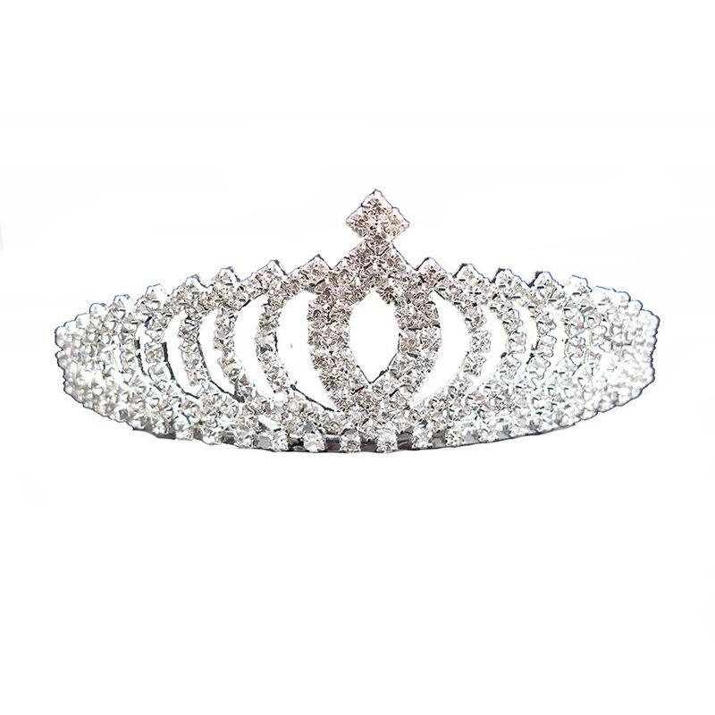 Diadema Vintage De Reina, Princesa Diana, corona De perlas De cristal para Accesorios nupciales para el cabello, novia, Tiara, diademas, Tiara De novia