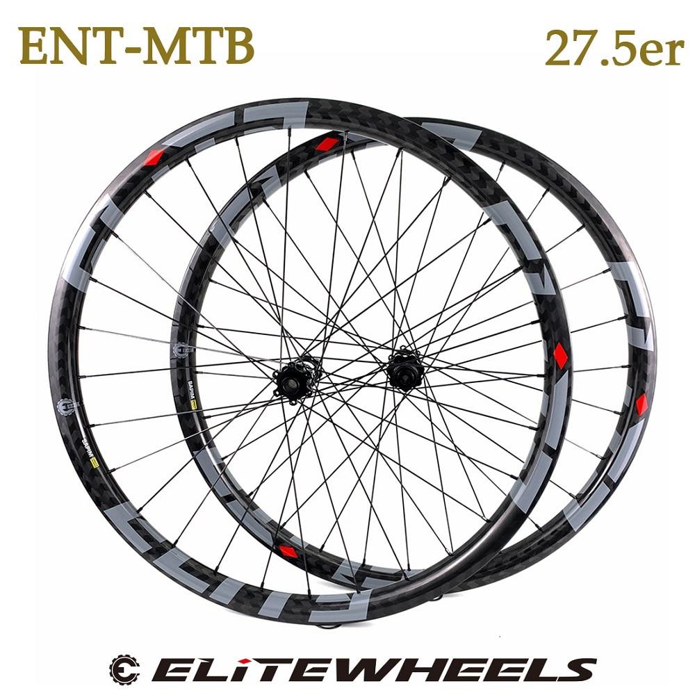 ELITEWHEELS 27.5er XC/AM DH طاقم عجلات من الكربون 28H M11 مستقيم سحب محور المباراة اثني عشر أنواع من ريم عبر البلاد جميع الجبال