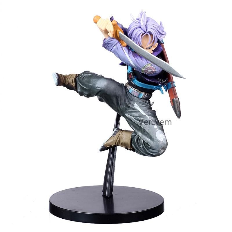 Dragon Ball Z Bwfc Super Saiyan Trunks Eerste Komende Jump Up Paars Haar Figuur Pvc Action Figure Model Dragonball Trunks speelgoed