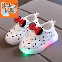 size 21 30 baby led shoes for girls anti slippery luminous sneakers breathable glowing casual sneakers girls led light up shoes
