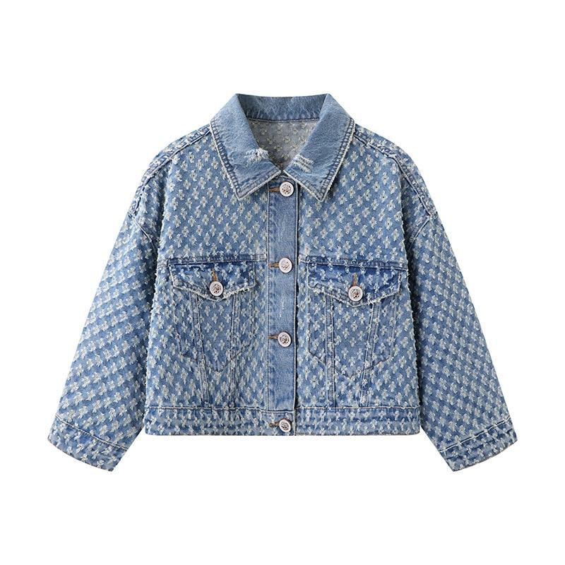 Женская джинсовая куртка Ondz2021, летняя новая одежда, тонкая повседневная короткая джинсовая куртка 3d2rd01