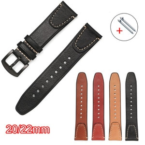 22mm 20mm Genuine Leather Band For Samsung Galaxy Watch 3/46mm/42mm/Active 2/Gear S3 Bracelet Huawei Watch GT/2/2e/Pro Strap