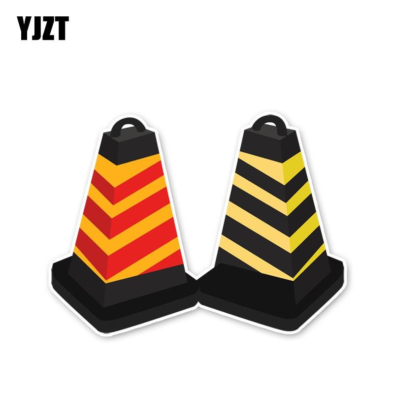 Barricadas YJZT 9.9*13.2 CENTÍMETROS Sinal de Alerta de Segurança Atenção Adesivos de Carro Acessórios C30-0578