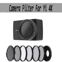 Фильтр для экшн-камеры FOTOFLY, защитные фильтры для Yi 4K Lite UV CPL ND 2 4 8, аксессуары для спортивной камеры Xiao Yi 4K + Plus