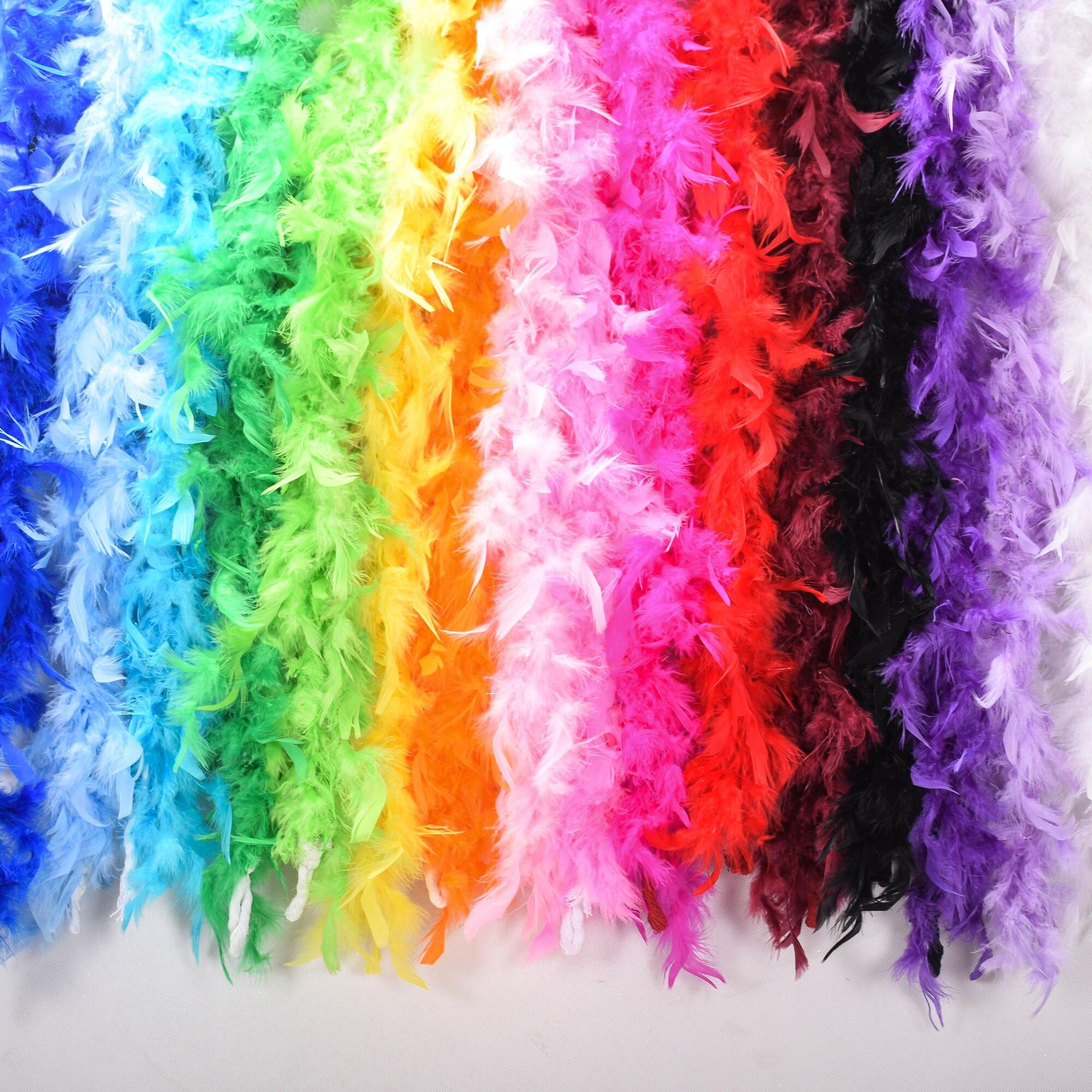 2 м многоцветная пушистая ручная работа страусиное перо плюмовый Боас шарф Одежда для свадьбы День святого Валентина украшение представление танец