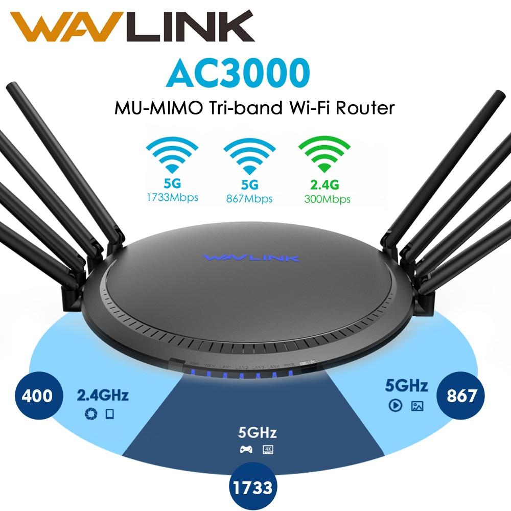 Wavlink AC3000 Gigabit WIFI Router Wireless Wifi Range Extender wifi Signal Amplifier Booster USB3.0 2.4G 5GHz Working Online