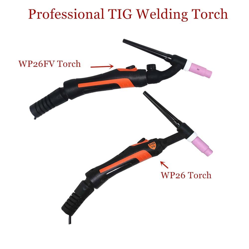 Professional WP26 TIG Torch GTAW Gas Tungsten Arc Welding Gun WP26FV Argon Air Cooled Gas Valve Remote Control TIG Welding Torch