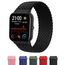 Bracelet boucle SOLO tressé pour Xiaomi Amazfit Gts2-Bip-Pace-Gtr montre intelligente 42/46mm pour Bracelet Garmin Vivoactive3 Bracelet montre intelligente