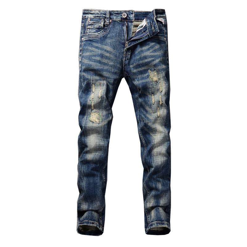 Mens Youthful  Straight Slim High Quality Pants Denim Casual Harem Male Jeans Fashion  Trousers Man solid Versatile Streetwear