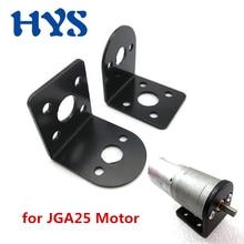 HYS DC support de support fixe   Pour moteur JGA25 310 370 GA25 moteurs électriques DC 12 V Volt 6V 24V Mini moteur à engrenages réduit monté en métal