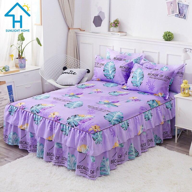 3 в 1 комплект простыни для простыни, простыни для матраса, протектор с юбками для кровати, чехол для матраса с подушкой, чехол