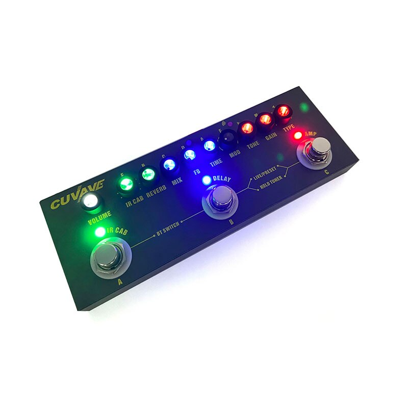 Cuvave Rechargeable Multi Effects Pedal Delay Chorus Phaser Reverb Effect Pedal Guitar Accessories Cube BABY Guitar Pedal enlarge