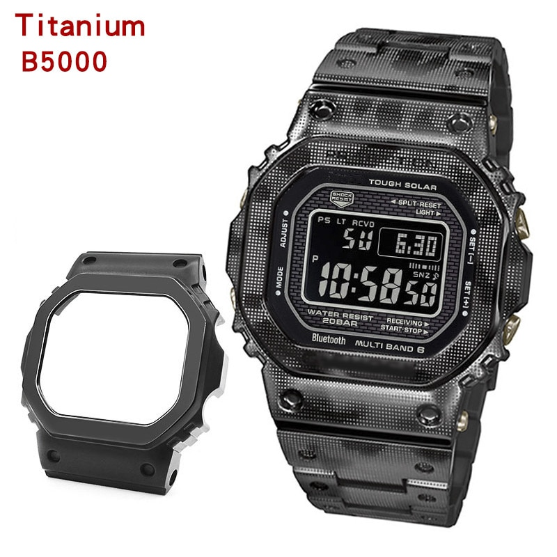 GMW-B5000 титановый сплав часы модификации запчасти металлический ремешок и чехол высококачественное Брендовое полотно ленточной инструмент ...