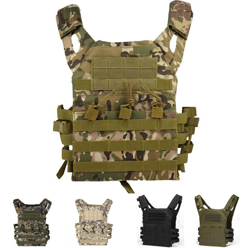 Armadura tática jpc molle placa de assalto transportadora colete equipamento militar do exército caça ao ar livre paintball airsoft camuflagem colete