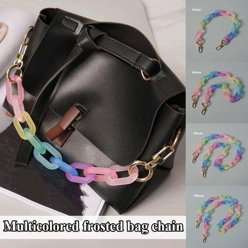 Женская декоративная цепочка для сумок, сменная цепочка для сумок, матовая цветная цепочка для сумок, модные изысканные аксессуары для сумо...
